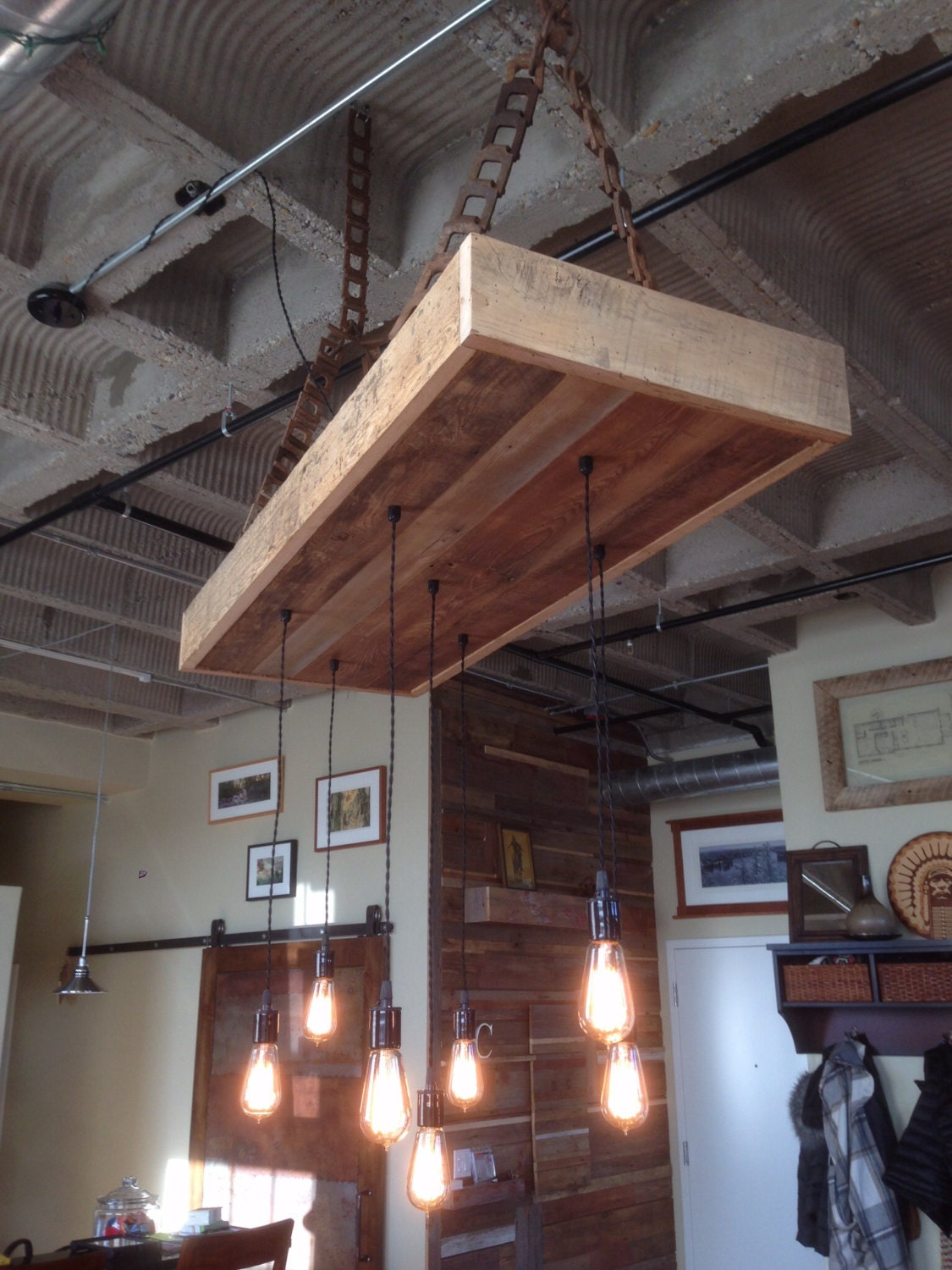 Kitchen dining for Rustic barn light fixtures