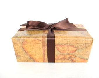 Father's Day Wrapping Paper, Old World Map Wrapping Paper, 10 ft. x 2 Ft Roll, Masculine Gift Wrap, Gift Wrap for Man,