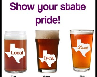 Texas Local engraved etched glass, texas glass,texas love, texas gift,texan gift,local gift,local glass,texas beer