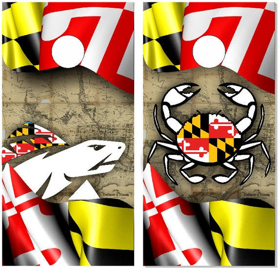 Maryland Flag Crab Decal Maryland Flag Blue Crab