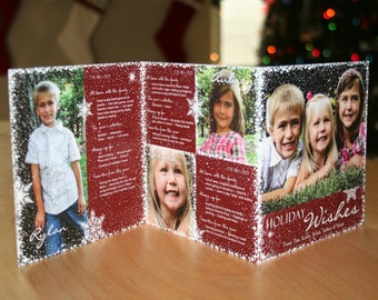 Customizeable 6 panel Christmas Card - Digital file