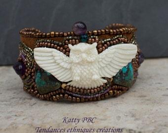 """Bracelet beaded embroidered """"Nokomis"""""""