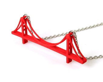 Golden Gate Bridge Necklace - 3D Printed Nylon