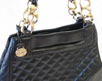 Vintage Vera Bradley Snap Closure Crossbody Handbag With