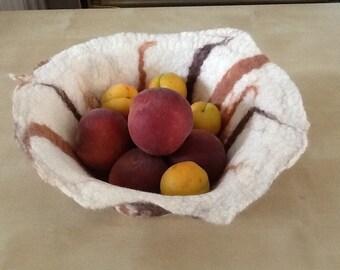 Felted bowl,wet felted vase