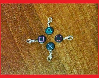 Playstation PS2 PS3 PS4 Button Bracelet Charm