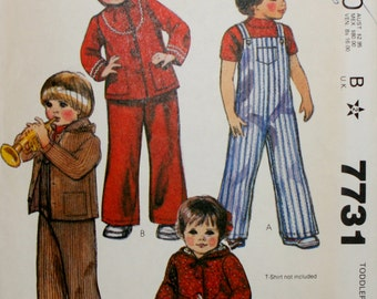 McCall's 7731 Toddlers Jacket and Overalls Sewing Pattern Size 1/2,1,2,3