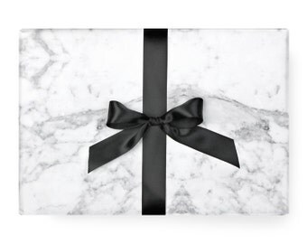 Marble Wrapping Paper - Black and White Pattern Modern Unique Party Scandinavian Gift Wrap / (Carrera) Carrara Marble / Instagram Backdrop