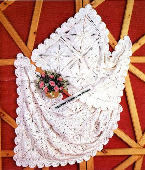 Knitting Pattern For Blanket For Dolls Pram : BABY BLANKETS KNITTING Pattern Pram and Cot Covers Double