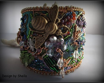 English Country Garden Cuff