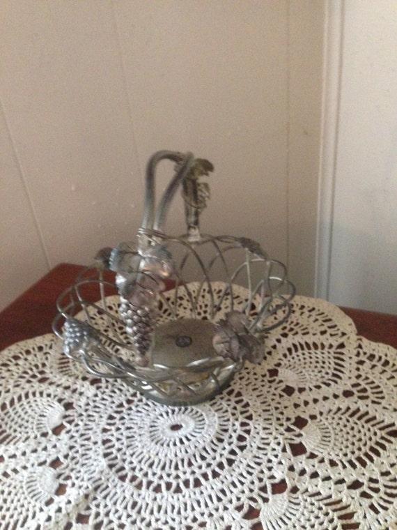 Godinger Silver Art Co Basket : Intricately detailed godinger silver art company by rust