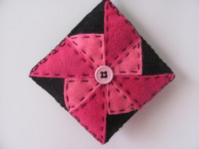 Pink Ornament Felt Pinwheel Ornament Pink Quilt Pattern