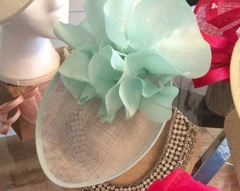 Mint Green Fascinator/ Hat