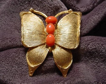 Vintage Gold Butterfly Pin