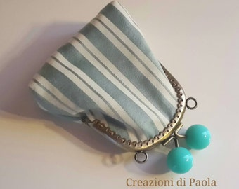 Coin purse with metal stripes-spring
