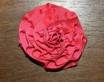 Small Pink Rosette on Alligator Clip