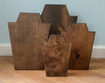 Solid Wood Necklace Display - Jewelry Stand - Handmade
