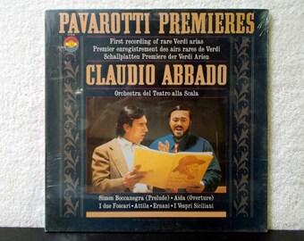 Sealed! Pavarotti Premieres Verdi Claudio Abbado. 1980 CBS Masterworks vintage vinyl LP 33. First Recording of Rare Verdi Arias