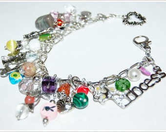 Charms bracelet Bracelet jewellery removable charms bracelet princess bracelet