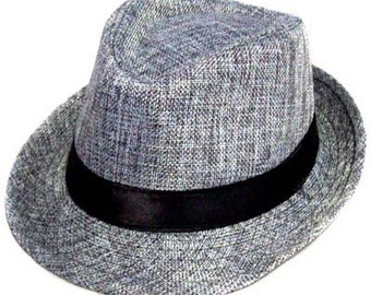 Gray Fedora  ~  Grey Fedora  ~  Child Fedora  ~  Toddler Fedora  ~  Boys Fedora