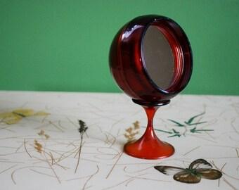Small vintage mod mirror