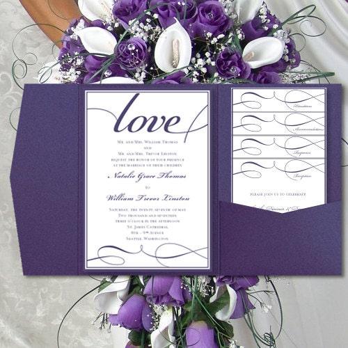 DIY Pocket Wedding Invitations Its Love