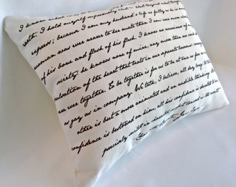 Jane Eyre Pillow, Charlotte Bronte