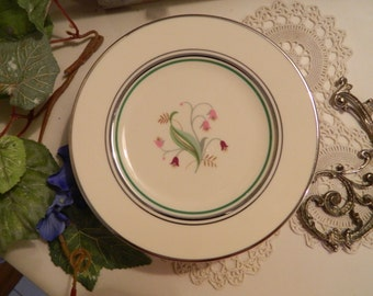 "Set of 7 Vintage Syracuse China Coralbel 6"" Bread and Butter or Dessert Plates"