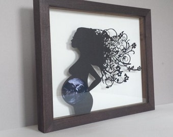 Baby Scan Papercut (Unframed) - The Original Pregnancy Papercut for your ultrasound photo