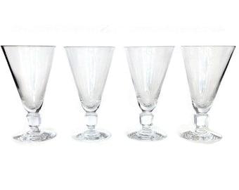 SALE! Kosta Boda Kuba Wine Glasses, Swedish Cube Design, Elis Bergh