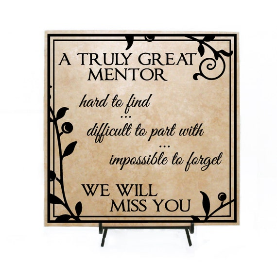 Truly Great Mentor Personalized Retirement Sign Thank you