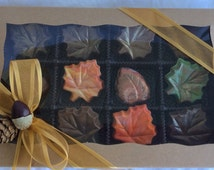 Thanksgiving Hostess Gift Decor Chocolates, Edible Gifts, Fall Chocolate Leaves
