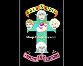 4x6 Gold N Girls Appetite For Cheesecake card