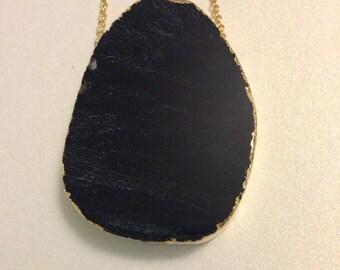 Black Agate stone necklace