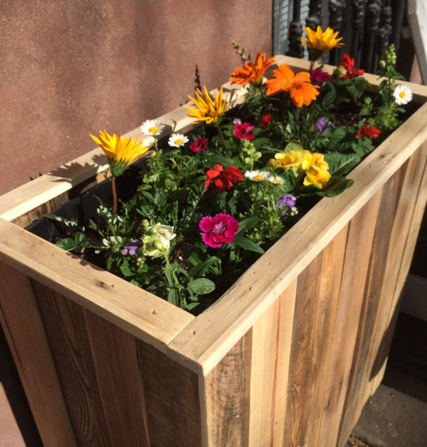 Diy Recycled Planters: Reclaimed Pallet Wood Planter Box By Streetwood On Etsy