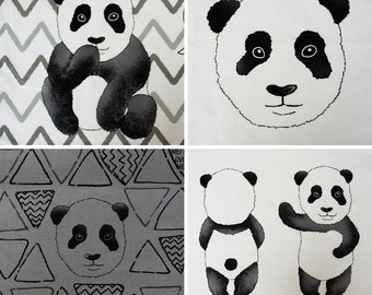 Cotton Panel Fabric Panda By The Panel