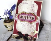 Religious Mother's Day Card, paper handmade greeting card, Mothers Day Card, 3D Pop up card, Easel Card