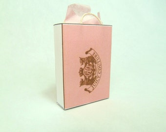Juicy Couture shopping bag dollhouse miniature 1/12 scale