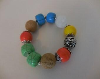 Colorful Chunky Bracelet