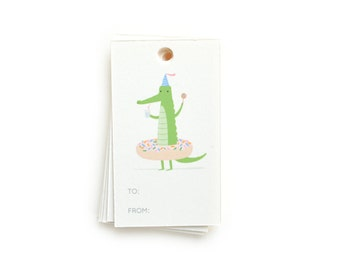 Party Crocodile Gift Tags