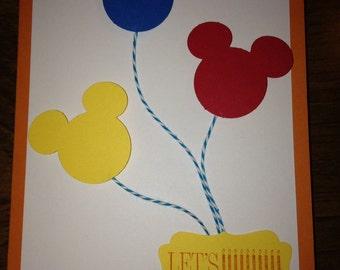 Mickey Mouse Balloon Birthday Card