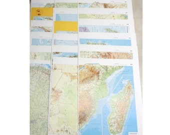 Vintage world map journal etsy 18 pages of vintage world atlas scrapbooking smash books collage art journals gumiabroncs Gallery