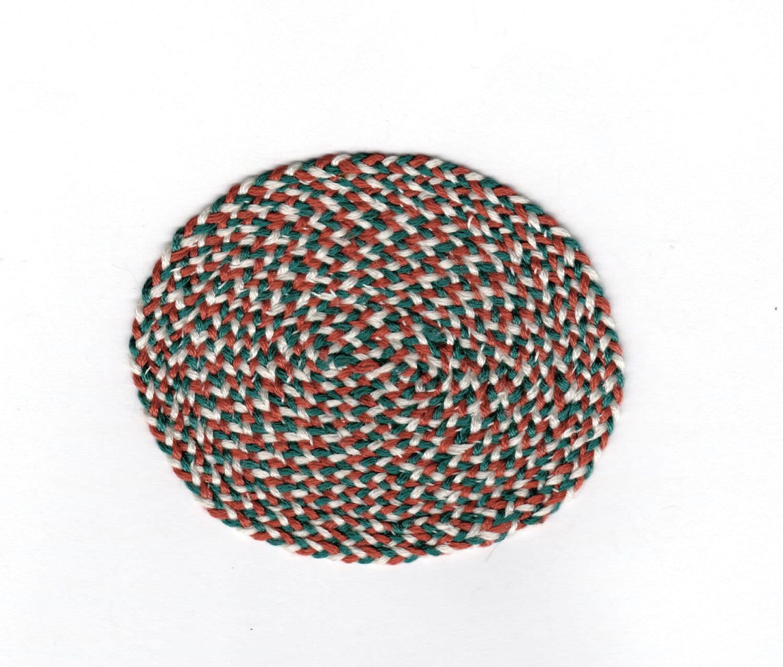 Used Oval Braided Rugs: Vintage Miniature Dollhouse Braided Rug Circle Oval Shaped