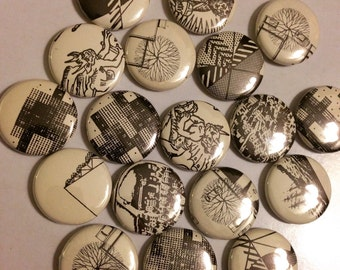 Pinback Buttons from Recycling Cities for People