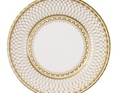 8 big serving gold paper plates - Charm, Christmas or New years eve party
