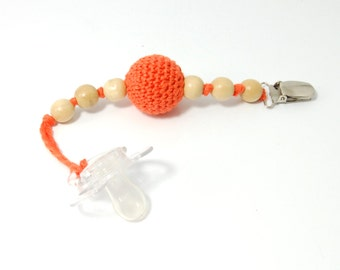 baby pacifier clip, eco friendly, crochet