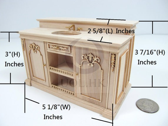 Miniature 1 12 Scale French Provincial Sink By