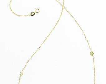 Peridot, Gold Necklace
