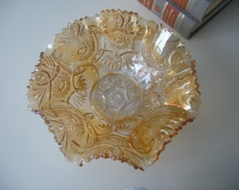Vintage, Imperial Glass, Carnival, Marigold Bowl