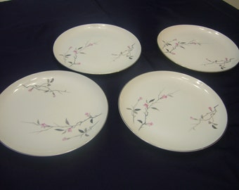 Four Vintage Cherry Blossom, Fine China, Made in  Japan, Dinner Plates